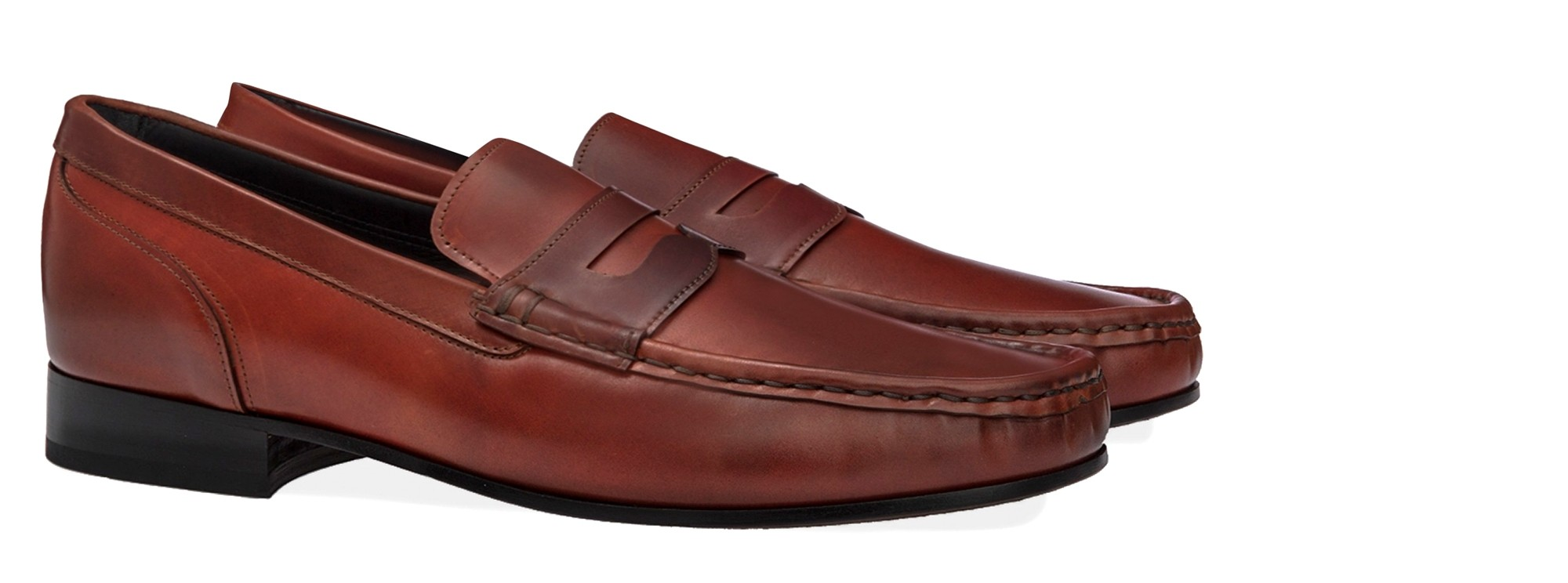 Mocassins réhaussants Shell Cordovan